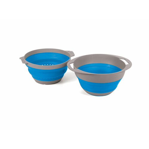 Companion Pop-Up 2 Piece Colander Bowl Set [Colour: Blue]